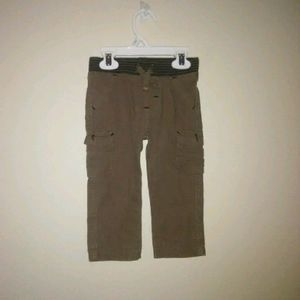 5/$10 boy brown cargo pants with drawstring 18m